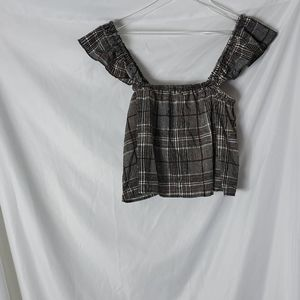 Fashion Nova  Eliana plaid Off The Shoulders Top